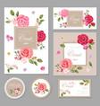 Set of floral vintage cards vector image vector image