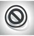 NO sign sticker curved vector image