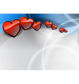 heart in the blue wave vector image vector image
