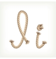 Rope alphabet Letter I vector image vector image