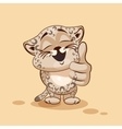 Leopard cub thumb up vector image