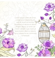 Invitation card for wedding vector image