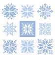 Cross stitch snowflakes pattern Scandinavian vector image