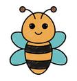 cute and tender bee kawaii style vector image
