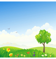 Spring scenery vector image
