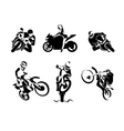Extreme Motorbike Rider set vector image
