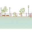Park Scene Background vector image vector image