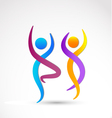 Couple dancing logo vector image vector image