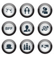 set of simple mates icons vector image