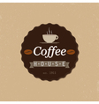 coffee house badge vector image