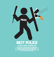 Riot Police Holding A Shield vector image