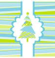 template christmas greeting card eps10 vector image