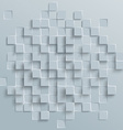 Abstract geometric shape from gray cubes or vector image vector image