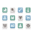 baby and children icons vector image vector image
