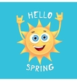 sun hand rock n roll icon  Spring vector image
