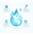 Water Globe Infographic Eco vector image