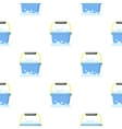 Bucket cartoon icon for web and vector image