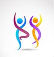 Couple dancing logo vector image