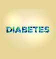 diabetes concept colorful word art vector image