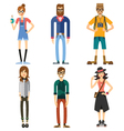 Different characters of people vector image