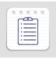 Doodle clipboard icon vector image