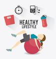 Fitness lifestyle design vector image