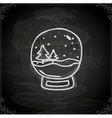 Hand Drawn Snow Globe vector image