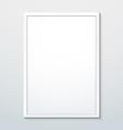 vertical white frame mockup vector image