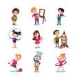 children hobbies set vector image vector image