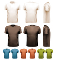 Colorful male t-shirts Design template vector image vector image