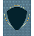 Blue gold frame background vector image vector image