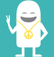 Animated personality pacifist vector image vector image