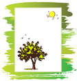 announcement form with tree vector image