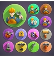 Construction remodeling round isometric icons vector image