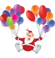 Cute Santa Claus and Toy Balloons vector image