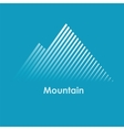 mountain mountain logo vector image
