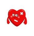 Poor heart vector image
