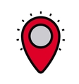 pin location isolated icon design vector image