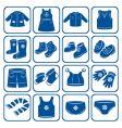 child clothes set vector image