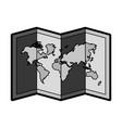 flat world map cartoon vector image