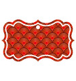 label classic rounded lines pattern image vector image