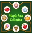 Magic icons set of different images vector image