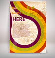 Paper Textured Pamphlet Background vector image