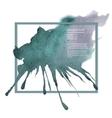 Watercolor design artistic element for banner vector image