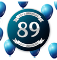 Silver number eighty nine years anniversary vector image