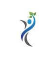 Fun people Healthy Life icon Logo template vector image