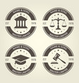 lawyer bureau emblems and labels vector image