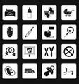 pregnancy symbols icons set squares vector image