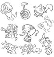 doodle of circus hand draw vector image