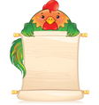 CH rooster vector image